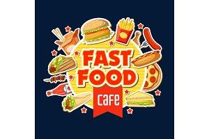 Fast food restaurant poster