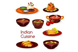 Indian cuisine dishes and desserts