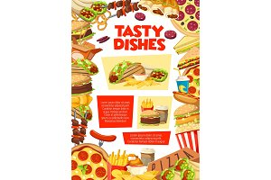 Fast food restaurant lunch poster
