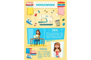 Housework, sewing and housekeeping