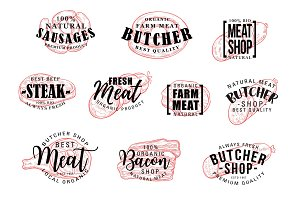 Sausage and meat lettering