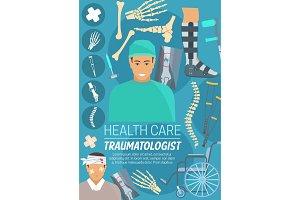 Traumatologist doctor, bones, joints