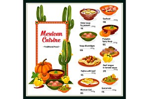 Mexican cuisine, dishes of Mexico