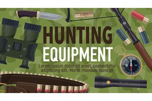Hunting sport equipment, ammunition