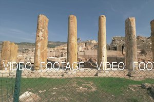 Ancient ruins and columns of