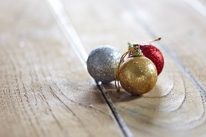 Christmas Ornaments On Table