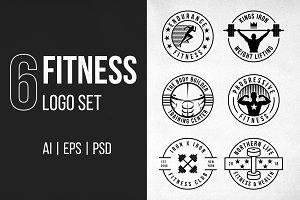 6 Fitness Logo Set