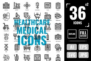 Healthcare & Medical icons