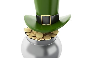 3d illustration. St. Patrick's hat w