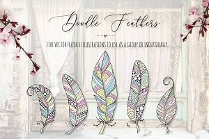 Doodle Feather Collection