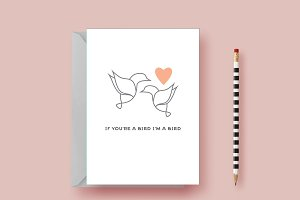 Anniversary Card - If You're a Bird!