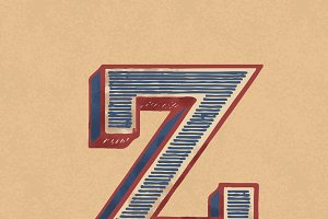 etter Z vintage typography style
