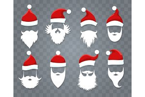 Santa hats and beards