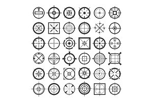 Target crosshair icons