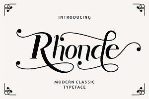 Rhonde - Modern Classic