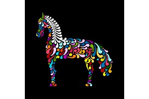 Ornate horse silhouette for your