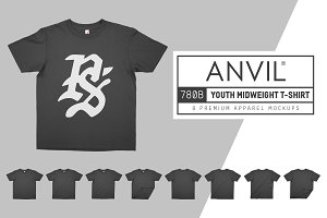 Anvil 780B Youth Midweight T-Shirt