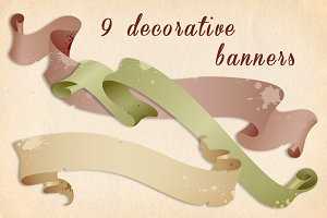 Decorative vintage banners