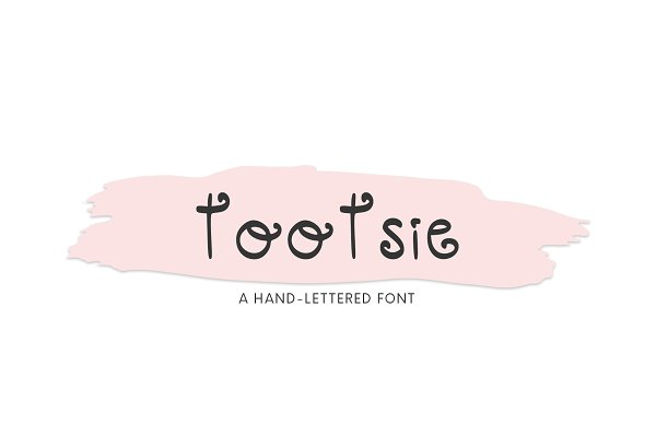 Tootsie, A Cute Hand-Lettered Font