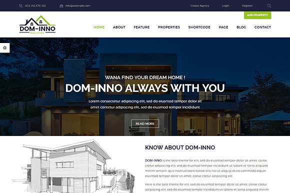 Dominno - Real Estate HTML Template ~ Website Templates ~ Creative on maryland logo design, realtor logo design, housing works logo design, non-profit organizations logo design, home inspection logo design, publishing house logo design, property management logo design, search logo design, apartment logo design, building logo design, key logo design,