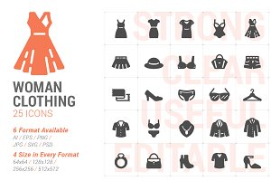 Woman Clothing Filled Icon