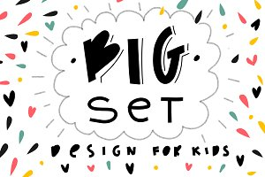 Big set for kids design.
