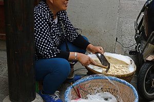 Chinese Woman Selling Sweets