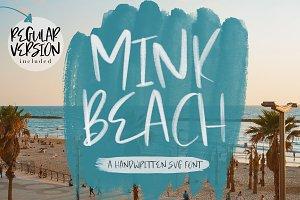 Mink Beach Font + SVG