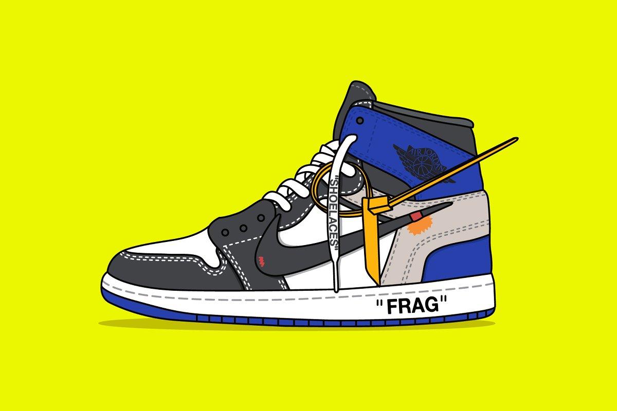 new style aaedf 9c242 Nike x Off white Jordan Blue