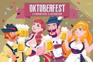 Oktoberfest Characters Illustration