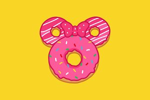 Minnie doughnut illustration