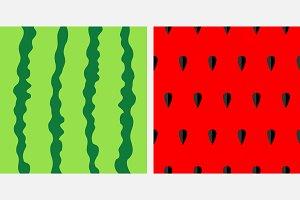 Watermelon seamless pattern set
