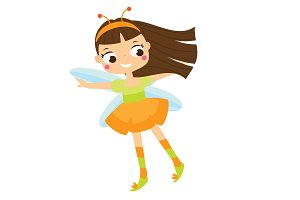 Cartoon flying fairy