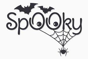 "Halloween vintage lettering ""Spooky"""