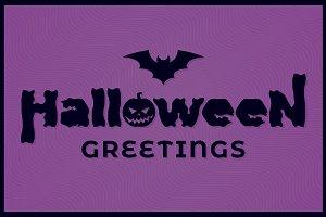 Halloween banner vector background