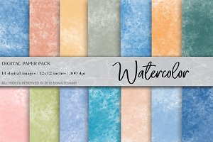 Watercolor Background Digital Paper