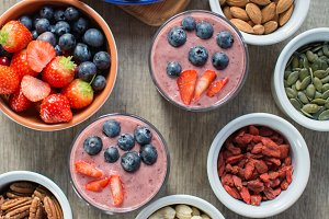 Healthy coconut milk chia pudding