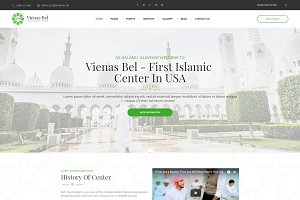 Islamic Center WordPress Theme