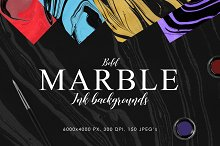 Bold Marble Ink Backgrounds by  in Textures