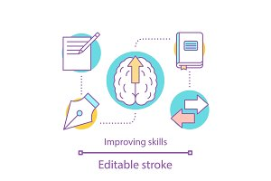 Skills improving concept icon