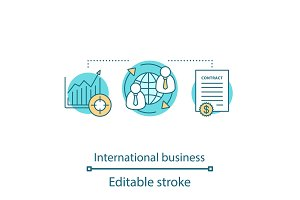 International business concept icon
