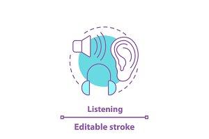 Listening concept icon