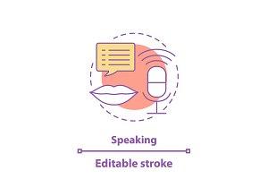 Speaking concept icon