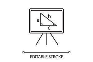 Whiteboard linear icon