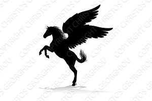 Pegasus Silhouette Mythological