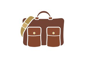 Men's bag glyph color icon