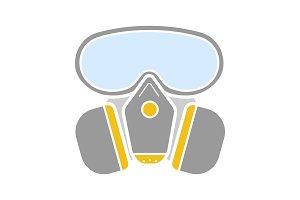 Respirator glyph color icon