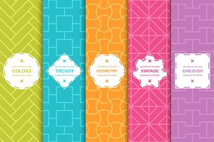 Bright seamless symmetric patterns