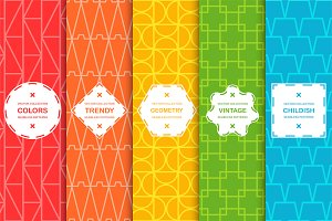 Vector colorful geometric patterns