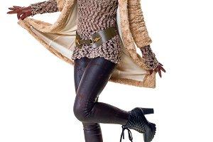 portrait of cheerful stylish woman i